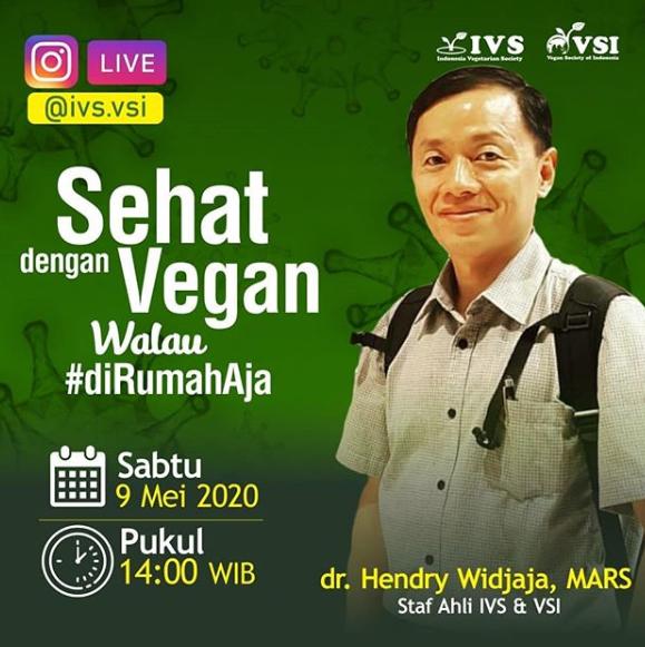 Instagram LIVE – Sehat dengan Vegan Walau #diRumahAja